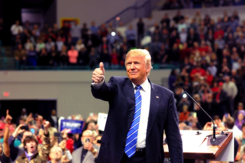 COURTESY PHOTO: MAKE AMERICA GREAT AGAIN - GOP candidate Donald Trump has a big lead in the polls ahead of Oregon's May 17 primary election.
