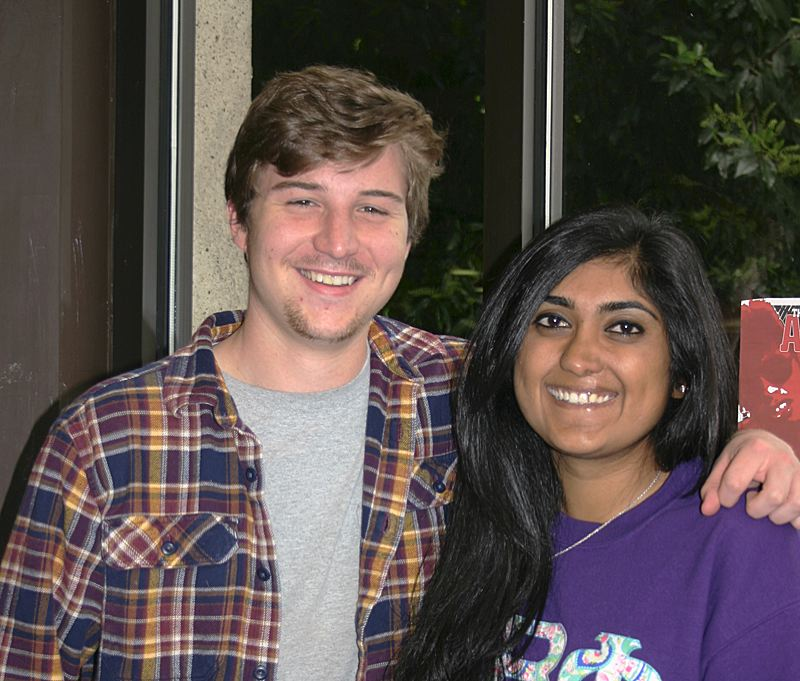 PAMPLIN MEDIA GROUP: HILLARY BORRUD/EO MEDIA GROUP - Willamette University students Nick Wagener, 21, and Taneesh Sra, 21, said they are excited to vote in the November presidential election.
