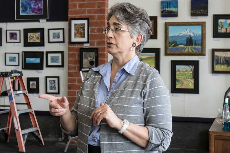 TIMES PHOTO: JONATHAN HOUSE - Tigard Art Walk coordinator Elise Shearer talks about what to expect from this years art walk.