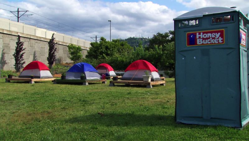 KOIN 6 NEWS - This new homeless camp for women was set up on Mother's Day at Southest 93rd Avenue and Woodstock Boulevard.