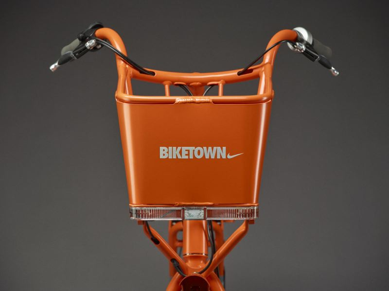 COURTESY PHOTO - Portland's Biketown will feature orange bicycles that can be rented around the city. Nike provided $10 million in January to sponsor the program.