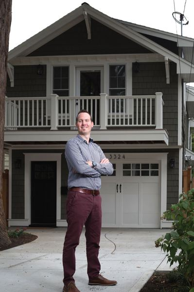 TRIBUNE FILE PHOTO  - Property taxes on James Peterson's house were set to balloon after he added this small dwelling unit atop his garage. But Multnomah County Assessor Randy Walruff has backed down on what some saw as punitive property tax increases.