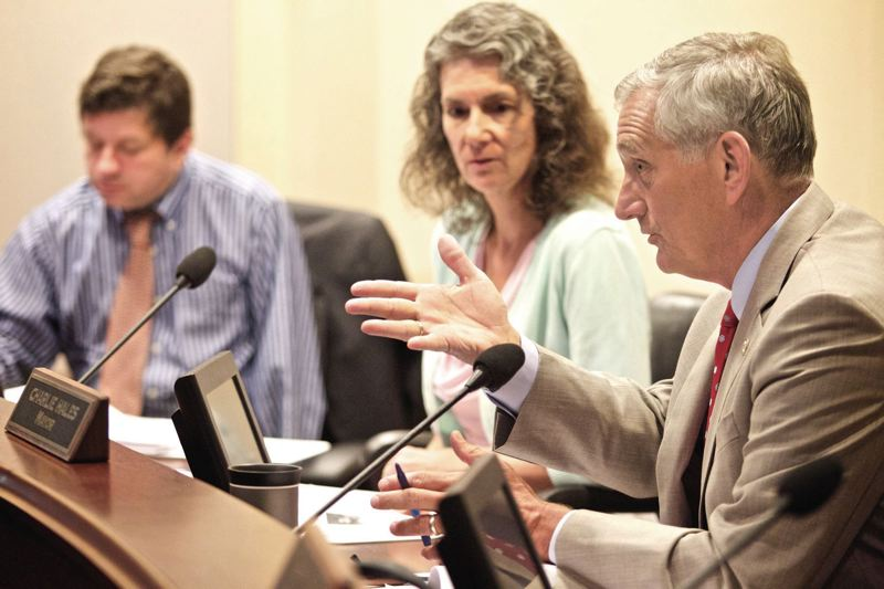 TRIBUNE FILE PHOTO  - A City Council majority on Monday indicated they will pass reductions to Mayor Charlie Hales budget, after he failed to convince them to raise taxes on business.