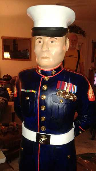 SUBMITTED - The six new figurines will honor the Army, Navy, Marines, Merchant Marines, Air Force and Coast Guard.