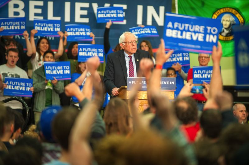TRIBUNE FILE PHOTO - Vermont Sen. Bernie Sanders is on his way to a victory Tuesday evening in the Oregon primary.