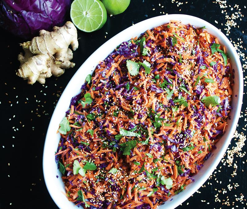 COURTESY: EATWITHZEST - Ginger-carrot slaw with toasted sesame seeds is a recipe full of antioxidants.