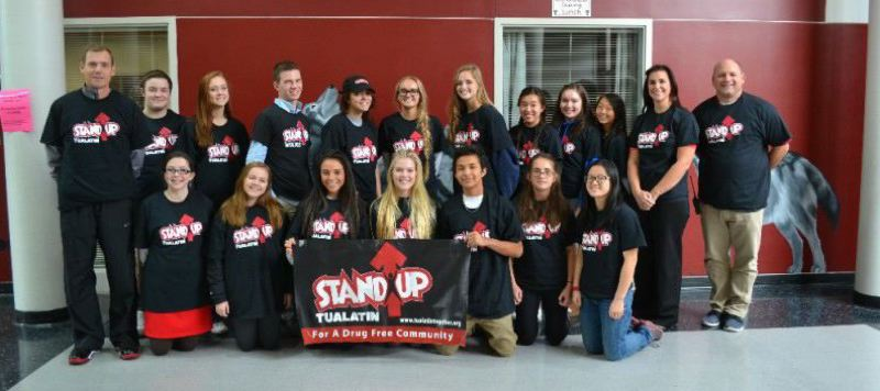 FILE - StandUp Tualatin, a student group at Tualatin High School, will perform skits as part of a marijuana 'education night' for students, parents and other community members on Thursday.