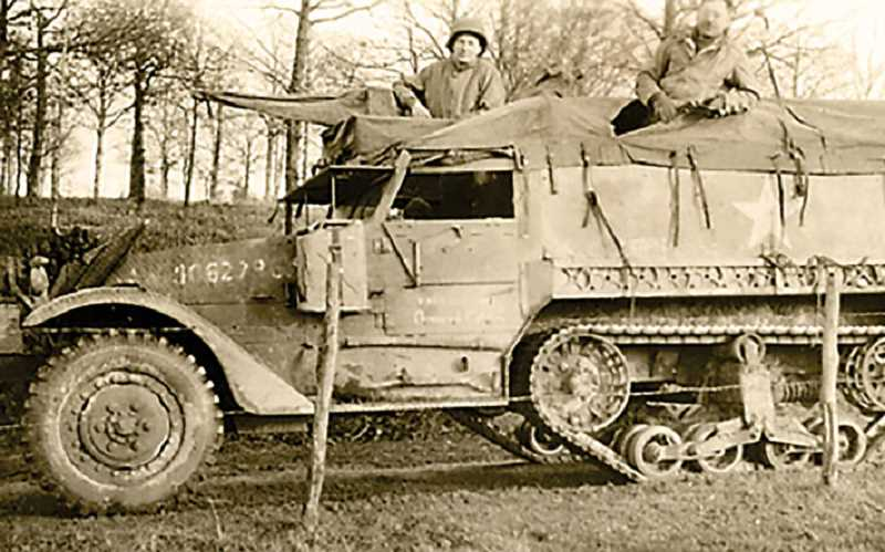 Pamplin Media Group - Smith disabled tank at Battle of the Bulge