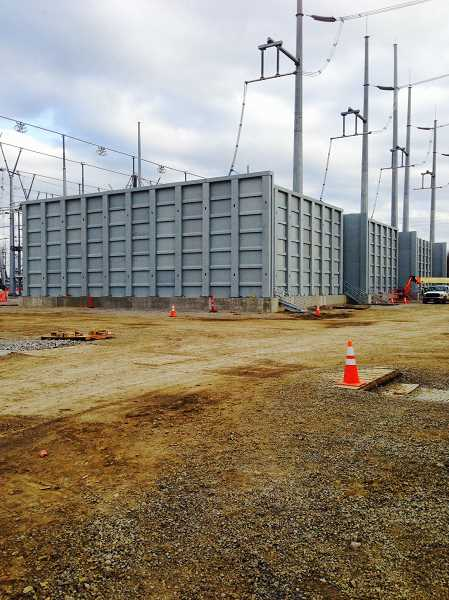 SUBMITTED PHOTO - One of HIT's blast resistant walls is currently in use in Columbus, Ohio, where it's protecting a power substation. The walls are 30 feet tall and 100 feet wide.
