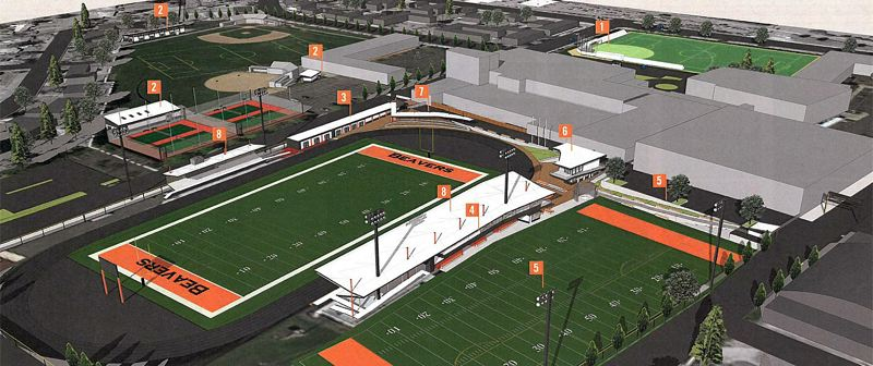 COURTESY BEAVERTON HIGH SCHOOL - This artist's renderings show just a few of the changes forthcoming to the athletic facilities at Beaverton High School under an ambitious donor-funded plan that will kick off this summer.
