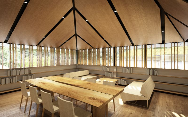 COURTESY KENGO KUMA ASSOCIATES - The $33.5 million Portland Japanese Garden Expansion project is currently underway near Washington Park. A rendering of the library.