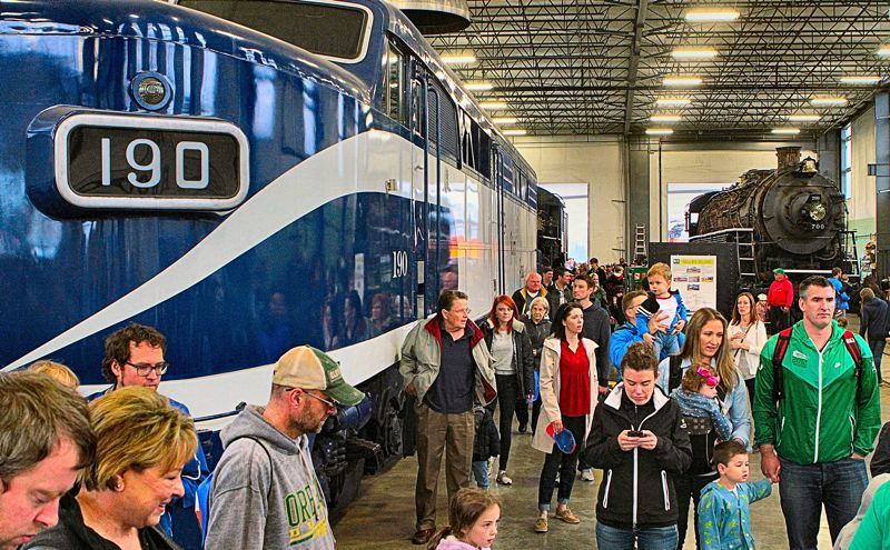 Thousands make tracks to 'Portland Train Day'