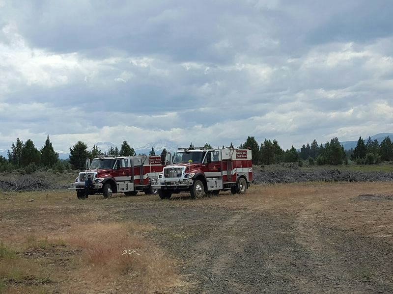 TVF&R - Two Tualatin Valley Fire & Rescue rigs in Sisters earlier this week. Several Washington County fire districts responded to a call to help fight a wildfire in Central Oregon this week.