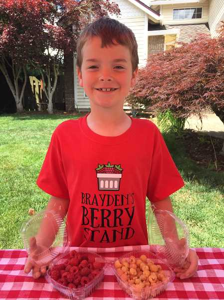 SUBMITTED PHOTO - Brayden had custom t-shirts made this year.
