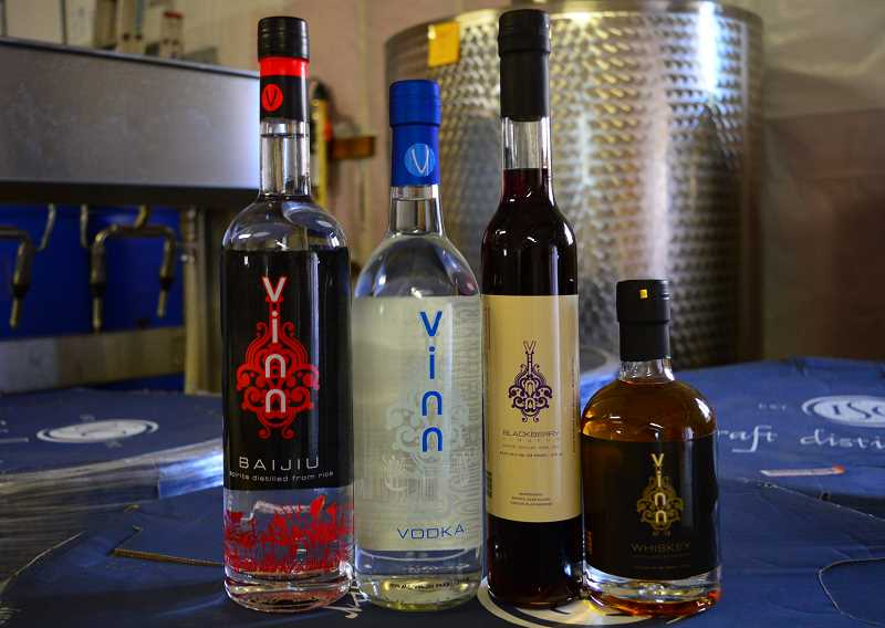 SPOKESMAN PHOTO: JAKE BARTMAN - Vinn Distillery produces vodka, a blackberry liqueur and whiskey in addition to baijiu.