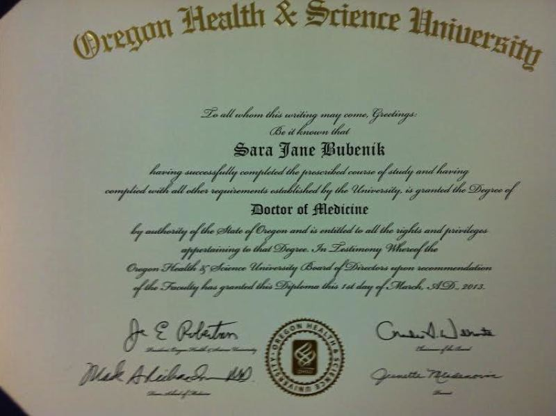 COURTESY: SARA BUBENIK - Sara Bubenik's medical degree was not the path to success she thought it would be.