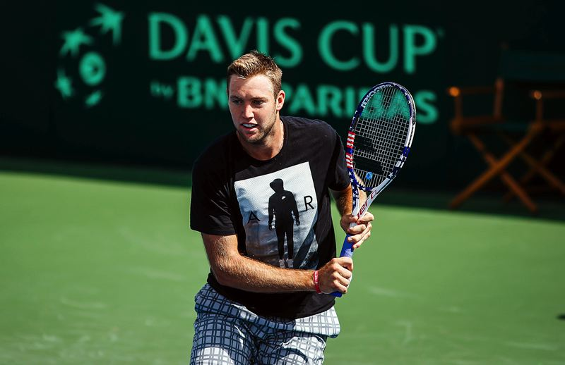 COURTESY USTA - United States singles player Jack Sock will help kick off play in the 2016 Davis Cup quarterfinal when he faces Croatia's Marin Cilic at 11:30 a.m. Friday at Tualatin Hills Tennis Center.