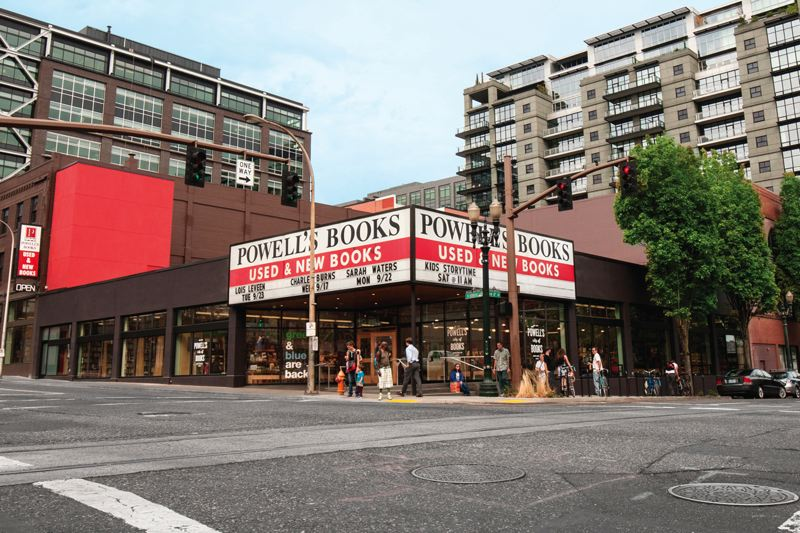 COURTESY POWELLS BOOKS - Powell's Books on West Burnside Street is a Portland institution, but owner Emily Powell says Measure 97 could drive it out of business.