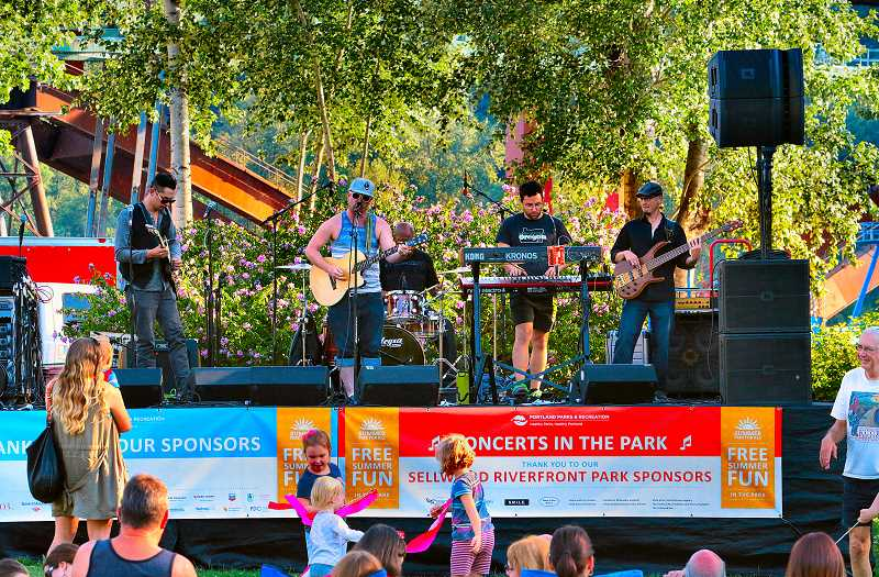 DAVID F. ASHTON - Keegan Smith and The Fam begin their set at the first Sellwood Riverfront Park Concerts in the Park show of the season.