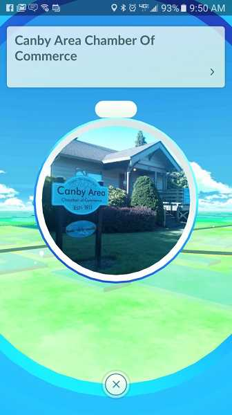 CANBY TELCOM - Local landmarks like the Chamber of Commerce building have been turned into Pokestops in the new game Pokemon Go