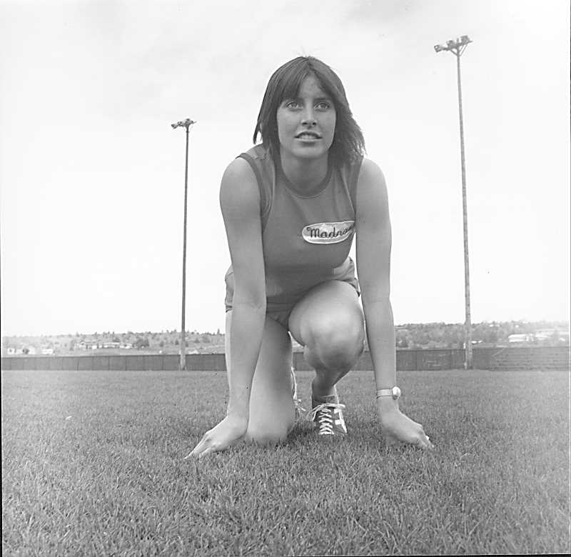 MADRAS PIONEER PHOTO - Desiree Gauthier won multiple state track titles in the 1970s.