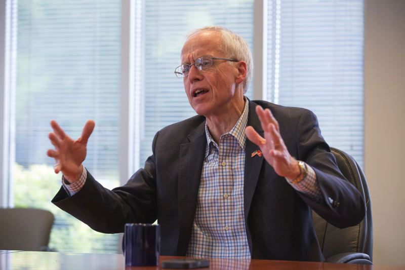 TRIBUNE FILE PHOTO - Salem doctor Bud Pierce is tied with Gov. Kate Brown, according to a new poll by an Ohio firm.