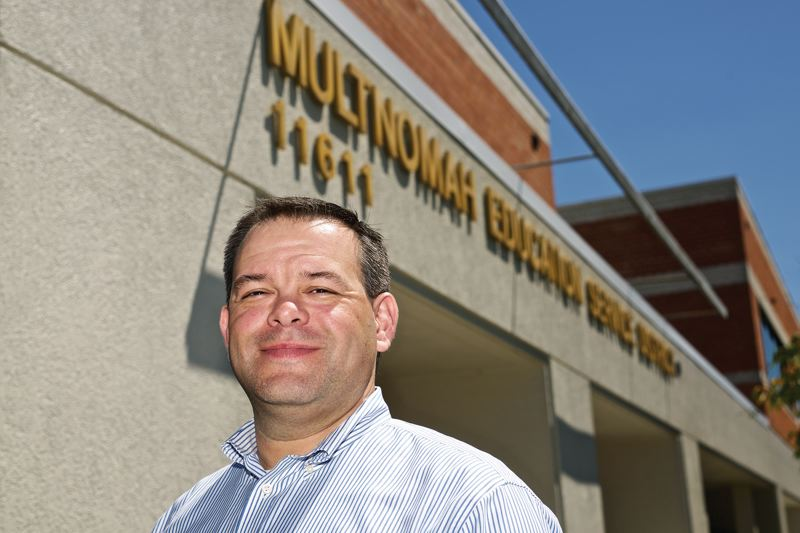TRIBUNE PHOTO: JAIME VALDEZ - Sam Breyer, Multnomah Education Service District superintendent, started his new job July 1 after a prolonged period of controversy and turmoil.