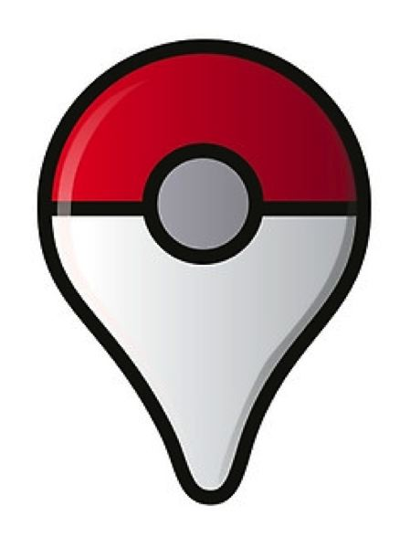 COURTESY POKEMON GO - The Pokemon Go logo combines a location indicator with a pokeball, which players throw at the pocket monsters to catch them.