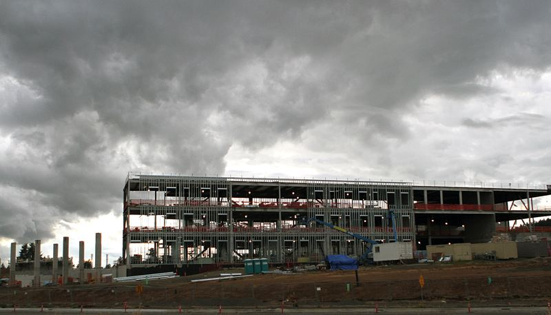TIMES PHOTO: MILES VANCE - The new high school being built in the South Cooper Mountain area precipitated the current process of redrawing high school boundary lines within the Beaverton School District.