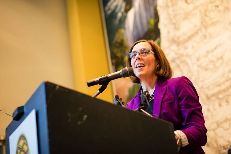 TRIBUNE FILE PHOTO - Gov. Kate Brown has endorsed a measure on the November general election ballot that would raise come taxes for corporations in Oregon.