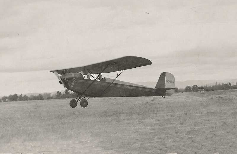 COURTESY PHOTO: MCCULLOUGH FAMILY - Norman Swede Ralston flies in an early airplane in the 1920s. Ralston, from Forest Grove, went on to found Aero Air, helped establish the Hillsboro Airport and performed the first air show in Hillsboro in the 1940s.