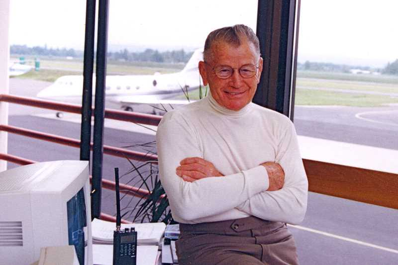 COURTESY PHOTO: MCCULLOUGH FAMILY - Swede Ralston died in 2007 after a lifetime in the aviation business. His company, Aero Air, is currently run by his grandson, Kevin McCullough.
