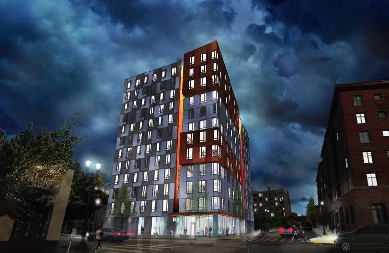 SALAZAR ARCHITECTS - This is the first affordable high-rise from Innovative Housing, with plans to be 12 stories tall.