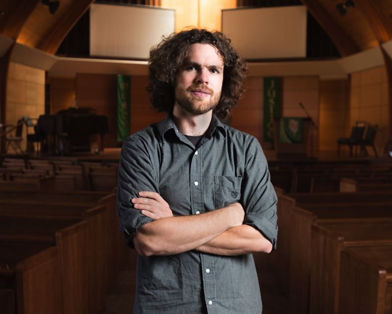 OUTLOOK PHOTO: JOSH KULLA - Adam Jenkins, the new assistant minister at Gresham United Methodist Church, will work to bring youth into the church.