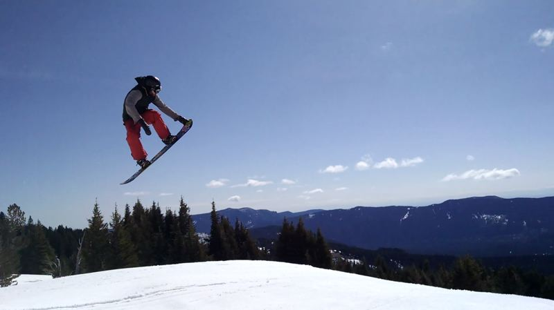 SUBMITTED PHOTO - Assistant minister Adam Jenkins is a certified snowboard instructor.