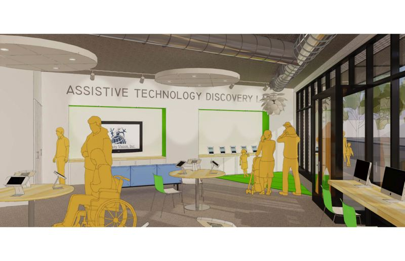 COMMUNITY VISION - The centers assistive tech lab will be a place for people to try out assistive technology such as communication devices and innovations for everyday living.