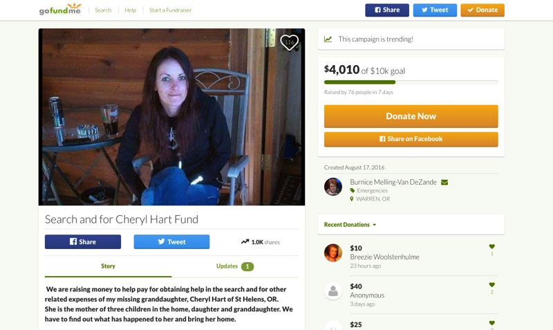Family of missing St. Helens woman fundraising to pay for search efforts