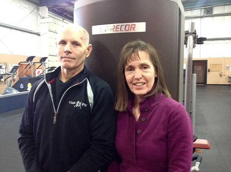 CLUB FIT - FROM LEFT: Ron and Barb Raines