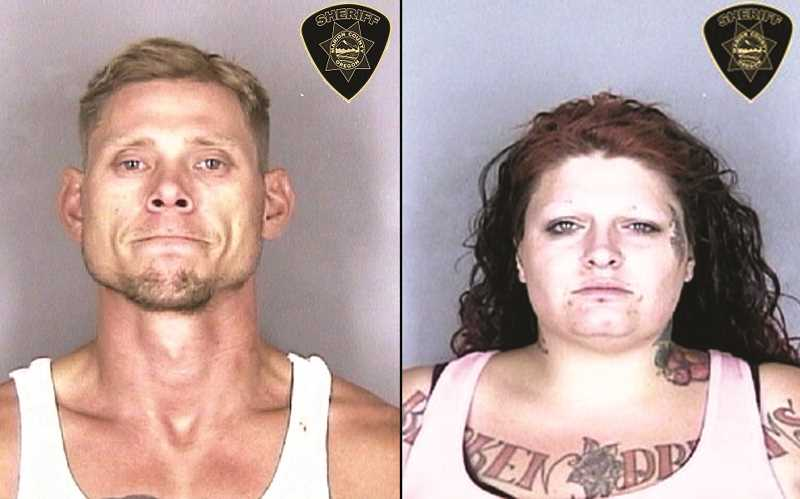 PHOTOS: MARION COUNTY JAIL - Woodburn police arrested Edward Root and Naomi Van Dyke at a storage facility in the early morning hours of Aug. 14.  Both were charged with second-degree burglary and other crimes.