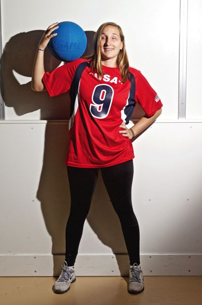 TIMES PHOTO: JAIME VALDEZ - Eliana Mason, a 2013 graduate of International School of Beaverton and a senior psychology major at Portland State University, will be heading to Rio to participate in the Paralympic Games for the U.S. Womens Goalball team.