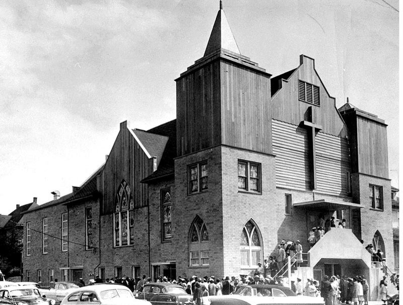 COURTESY PHOTO - The Vancouver Avenue First Baptist Church, here in the  1950s, has