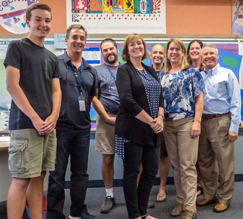 SUBMITTED PHOTO - The members of the new Hunger Fighters Oregon board are (from left) Michael Murray, Jim White, Chris Rodegerdts, Terri Childress, Ian Reeves, Aletia Cochran, Cathleen Steele and Malcolm Mathes.