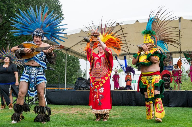 TIMES FILE PHOTO - The Ritual Azteca Huitzilopochtli dance group will offer a free worksho pat the Beaverton City Library on Saturday.