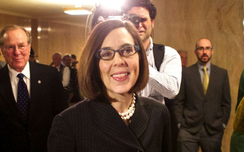 TRIBUNE FILE PHOTO - Gov. Kate Brown announced Thursday, Sept. 15, the legal settlement with Oracle Corp.