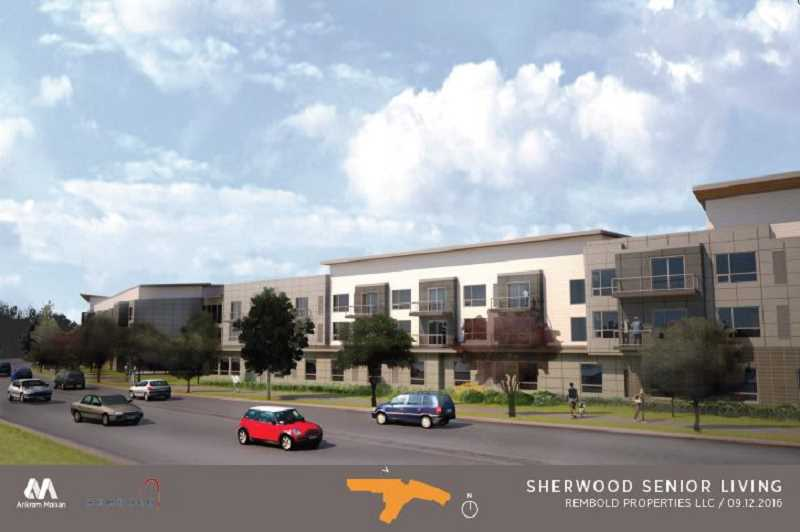 COURTESY OF ANKROM MOISAN - Here's what a proposed assisted living facility would look like roughly looking looking south from the north side of Edy Road.