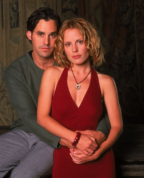 COURTESY PHOTO - Nicholas Brendon and Emma Caufield as Xander and Anya in the television series 'Buffy the Vampire Slayer' in the late 1990s. Both actors will visit St. Helens on Oct. 29.