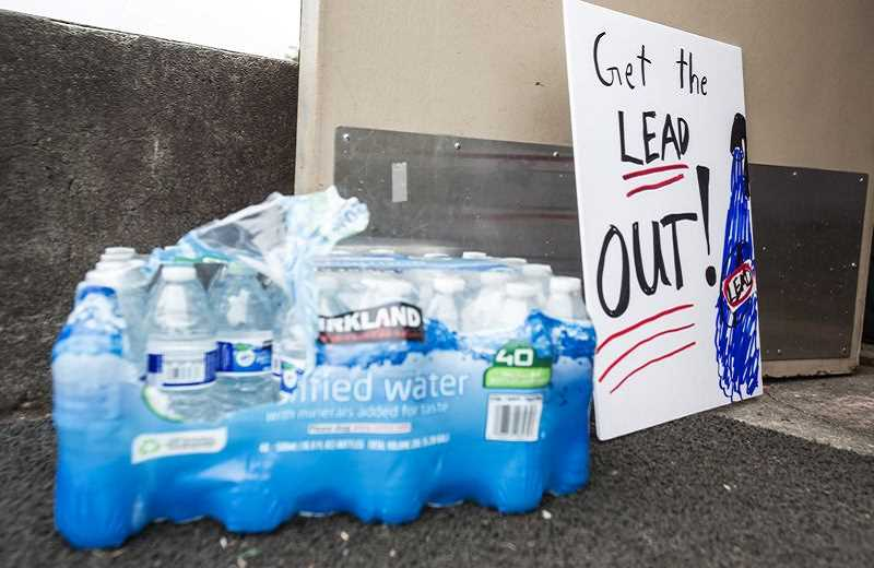 JONATHAN HOUSE - Portland schools used bottled water after eleveated levels of lead were found in some schools' water. The fallout of the scandal has lead schools across the state to begin testing.