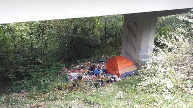 PHOTO COURTESY OF MAX LEE KWAI - South Burlingame residents discovered seven homeless camps near their neighborhood in August.