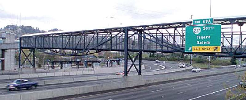 COURTESY PHOTO - TriMet's pedestrian bridge over the Sunset Highway will be named Saturday, Sept. 24, for former Metro Councilor Terry S. Moore, who died in 2014.