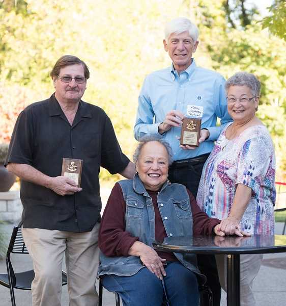 PHOTO COURTESY OF LEVI SIM PHOTOGRAPHY - Bill Korach (from left), Dee Denton, Paul Graham and Marci Nemhouser were honored Saturday by the Chamber of Commerce for playing key roles in the Leadership Lake Oswego progarm.
